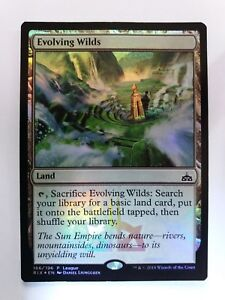 MTG Evolving Wilds Rivals of Ixalan League Foil Alternate Art Promotional Card