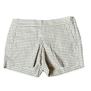 """Size 12 NWT J.Crew Factory Polka Dot Stretch Chino City Fit Side Zip Shorts 5"""""""