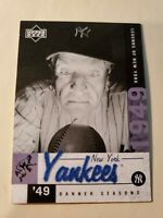 2001 Upper Deck Legends Of New York Casey Stengel Yankees #143