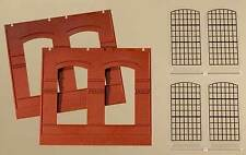 Auhagen H0 Système modulaire 80504: 2 Cloisons 2326B,rouge