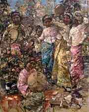 Burmese Musicians by E Hornel 8x10 Art Print Myanmar Asia Girls Music Dance 148