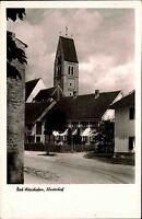 Bad Wörishofen im Allgäu alte Ansichtskarte 1959 Straßenpartie am Klosterhof