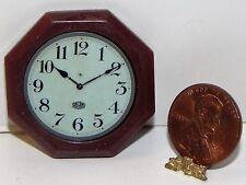 Dollhouse Miniature Clock Octagon Wall Minis 1:12 Scale
