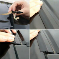 Black T-Type Rubber Car Windshield Edge Moulding Sealing Strip Soundproof 3Meter