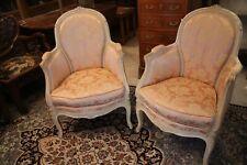 Paire de fauteuils bergères de style Louis XV