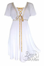 Dare to Wear Victorian Gothic Plus Size Angel Corset Wedding Dress White Gold