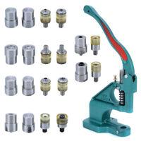 21Pcs Claw Clasp Snap Fastener Dies Hand Pressure Pressing Clamp Machine Kit *