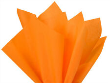 """Tangerine Tissue Paper 15x20"""" 480 Sheets Crafts Gifts Pompoms Made In The Usa"""