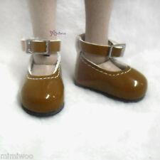 Monchhichi S MCC Pullip's Boy friend Taeyang bjd Doll Mary Jane Shoes Lt.Brown
