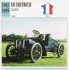 1903-1905 DE DIETRICH 24/28 HP Classic Car Photograph / Information Maxi Card