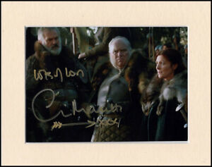 """Clive Mantle Game Of Thrones Greatjon Umber Signed Mounted 10x8"""" Autograph Photo"""