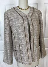 """NWT CHICO'S TRAVEL COLLECTION WOVEN OPEN FRONT JACKET/BLAZER """"DAPHNE"""" Sz 2"""