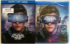 NEW READY PLAYER ONE BLU RAY DVD DIGITAL TARGET EXCLUSIVE LENTICULAR SLIPCOVER