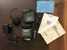Rare Sony Mzr2 MiniDisc Player Recorder W all Accessories & Case in Original Box