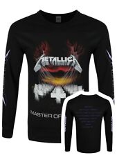 Metallica Long-sleeve T-Shirt Master Of Puppets Men's Black