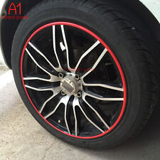 FM US! 8M RED Rubber RIM Wheel Protector FITS 4 RIMS Car Vehicle Tire Guard Line