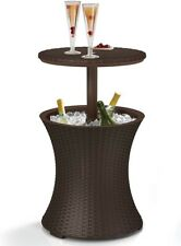 New listing Keter Rattan Outdoor Patio Deck Pool Cool Bar Ice Cooler Table Furniture Brown