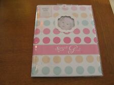 Gibson baby Record Baby Book Memory sweet girl dots stepping stone birth to 5