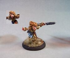 MageKnight Metal painted miniature cute female Healer/Cleric