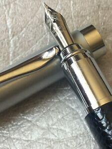 Pair, Iridium Tip Fountain Pen And Propelling Pencil Chrome Trim. Unbranded