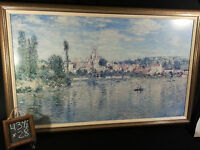 """Claude Monet Impressionism- Print Painting Art Vetheuil In Summer  43 1/2"""" x 28"""""""