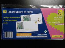 Lot de 5 cartes Tintin pret à poster prépayée ETAT NEUF sous cello