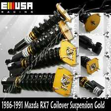 coilover suspension for1986 1991 mazda rx 7 rx7 type rs fc3s non adjdampen gold fits mazda rx 7