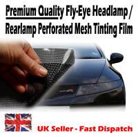 50cm x 105cm Headlight Tinting Perforated Mesh Film Like Fly-Eye MOT Legal Tint