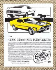 1971 FORD MUSTANG BOSS 351 CLEVELAND V8 MUSCLE CAR LITERATURE FACT SHEET 26