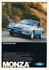 1977 Chevrolet Monza Blue 2+2 Vintage Advertisement Ad