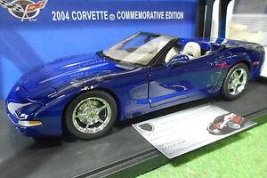 CHEVROLET  CORVETTE cabriolet COMMEMORATIVE 2004 au 1/18 AUTOart 71152 miniature