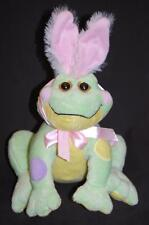 "Frabbit Frog Green Yellow Polkadot Rabbit Ears HE8651 Ganz Plush 12"" Stuffed Toy"