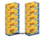 10 Rolls Kodak GC 135-24 Max 400 Color Print 35mm Film ISO 400 3/2019