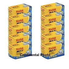 20 Rolls Kodak Max GC 400 135-24 Color Print 35mm Film **Fresh Date**