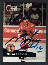 Michel Goulet #50 signed autograph auto 1991-92 Pro Set Hockey Trading Card