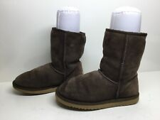 *2 WOMENS UGG AUSTRALIA WINTER SUEDE DARK BROWN BOOTS SIZE 8