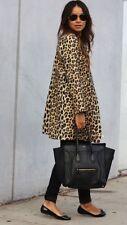 ZARA AW16 Animal Print Frock Coat Size XS Uk 6/8 Genuine Zara