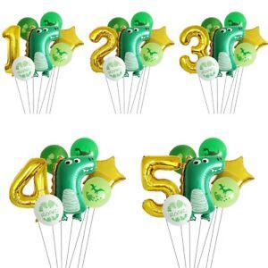 Number Dinosaur Theme Foil Latex Balloon Kids Birthday Baby Shower Party Decor