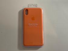 Funda Original Apple Silicona iPhone XS Max Papaya - Descatalogada