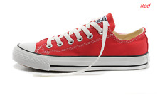 Red Women Lady ALL STARs Chuck Taylor Ox Low Top classic Canvas Sneakers US7.5