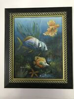 "Signed Oil Painting Framed 11"" X 23"""