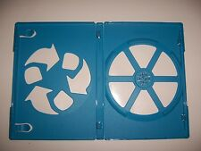 ONE (1) Empty OFFICIAL Nintendo Wii U Replacement Case Blue w/ LOGO & Sleeve