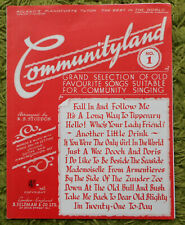 Communityland No.1:12 Songs in 6 Pages for Piano, Guitar, Lyrics, Ukelele Chords