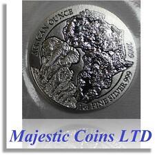 2009 Rwanda Elephant 50 Francs 1 Oz .999 Silver Map of Africa Mint Blister