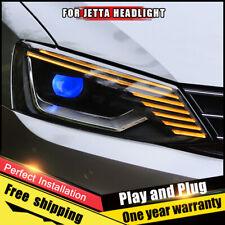 For VW Jetta Headlights assembly Bi-Xenon Lens Double Beam HID KIT 2011-2018