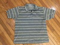 Nicklaus Men's Gray / Beige Golf Polo Shirt Size XL