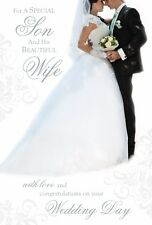 SON & HIS BEAUTIFUL WIFE WEDDING CARD LARGE SIZE~QUALITY CARD~BEAUTIFUL VERSE