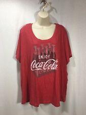 Coca Cola 4X Women's Tee T-Shirt 2010 Branded 26W Red Bottle Case