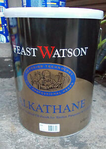 """Feast Watson """"ALKATHANE"""" SATIN  10 Litre can  - pick up only FLOOR FINISH"""