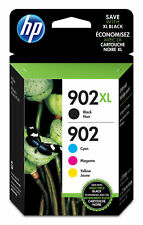 HP 902XL High Yield Black and 902 Tri-Color Ink Cartridges